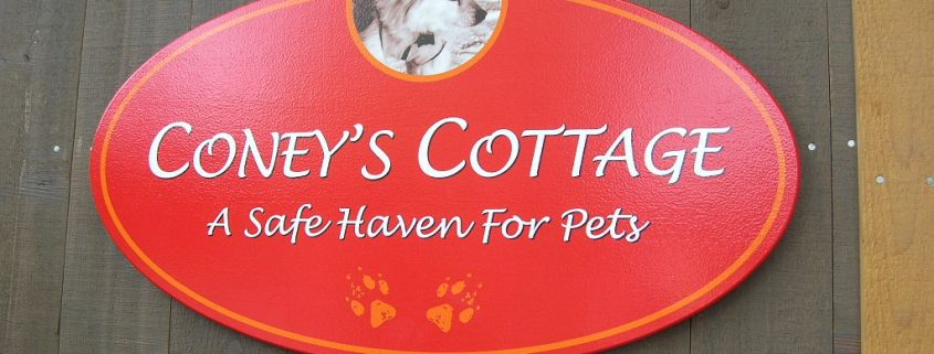 SafePAWS Coney's Cottage sign